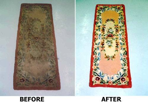 cleaning power of Rug Doctor.